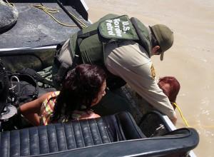 Border Patrol tem visto uma média de um afogamento por semana. Foto: US Border Patrol.