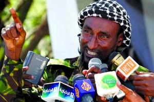 File photo of senior Al Shabaab officer Mohamed Mohamud addressing a news conference in Mogadishu