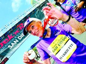 idosa maratonista
