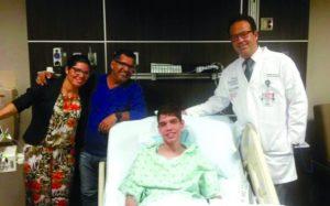 """Recuperação de Weverton está """"acima da média"""" após transplante de intestino"""