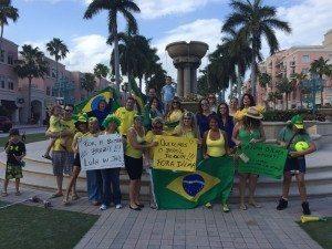 Brasileiros também realizam manifestações no exterior, incluindo Boca Raton