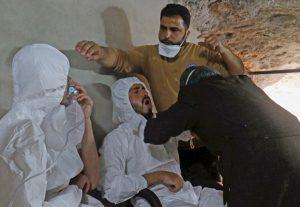 Passa de 100 o número de mortos em ataque químico na Síria