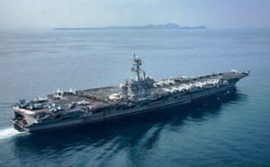 Frota dos EUA percorreu rota oposta à Coreia