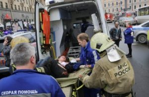 Rússia considera terrorismo explosão no metrô de São Petersburgo