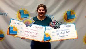 Garota tem dois bilhetes premiados na loteria em uma semana na Califórnia