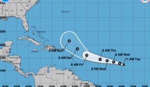 Nova tempestade tropical se forma no Atlântico