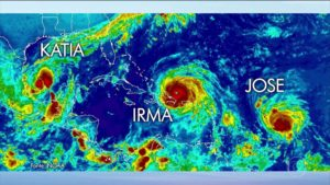 Irma perde força e Jose atinge categoria 4 no Atlântico