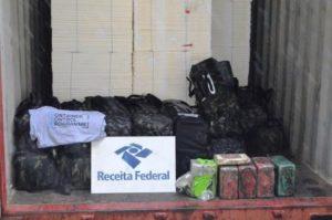 Receita Federal apreende mais de 900kg de cocaína que seguiria para a Europa