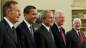 Cinco ex-presidentes dos EUA se reúnem em show em prol das vítimas de furacões
