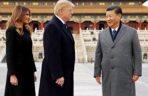 Trump visita a China pela 1ª vez como presidente