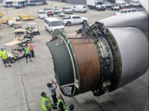 Avião da United perde capa da turbina durante voo no Pacífico