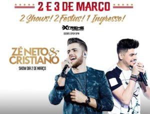 O show de Zé Neto e Cristiano é o destaque do final de semana