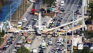 Sobe número de mortos pela queda de passarela em Miami