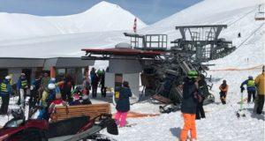 Teleférico desgovernado arremessa esquiadores em pista na Geórgia