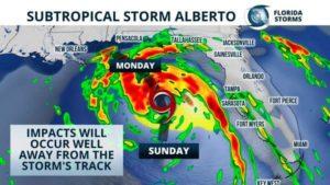 Parte do Miami Beach Air & Sea Show é cancelado em meio a tempestade Alberto