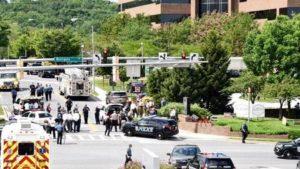 Polícia responde a tiroteio em redação de jornal em Maryland