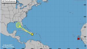 Sul da Flórida pode ter fortes chuvas neste fim de semana