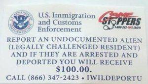 Flyer oferecendo US$100 para entregar indocumentados na Flórida é falso, diz polícia