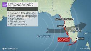 Flórida sob aviso de ventos fortes com a chegada oficial do inverno