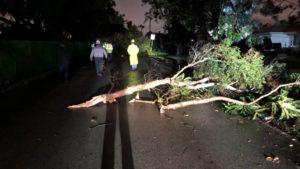 Tornado e tempestade causaram danos, atraso de voos e deixaram centenas de famílias sem energia