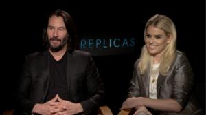 """Keanu Reeves e Alice Eve falam o que os atraiu em """"Replicas"""" – EXCLUSIVO"""