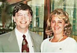 Cristina Boner com Bill Gates