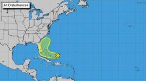 NHC monitora distúrbio tropical nas Bahamas que deve chegar à FL