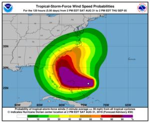 """""""Tropical Storm Watch"""" é emitido de Deerfield Beach até Sebastian Inlet"""