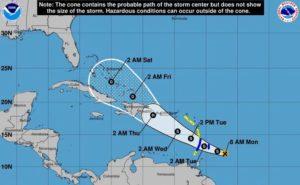 Tempestade tropical Dorian ganha força e deve se transformar em furacão