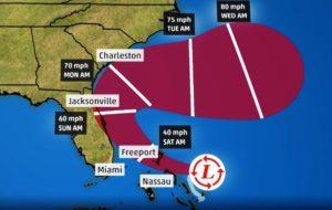 Bahamas emite alerta de tempestade tropical; costa leste da FL sob aviso