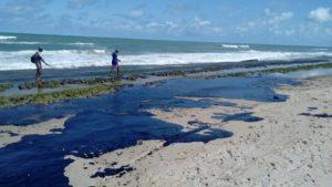 Óleo atinge todo o litoral do NE e Marinha notifica navios-tanque de 10 países