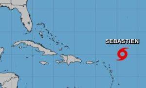 Tempestade tropical Sebastien se forma no Oceano Atlântico