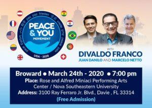 Médium Divaldo Franco volta ao sul da Flórida em março
