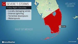 Fim de semana do Super Bowl pode ter fortes tempestades